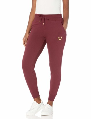 True Religion Women's Tall Size High Waisted Raw Slim fit Jogger Sweapant