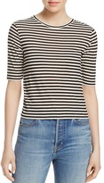 Vince Striped Crop Tee