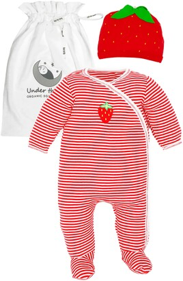 Under the Nile Strawberry Organic Egyptian Cotton Footie & Beanie Set