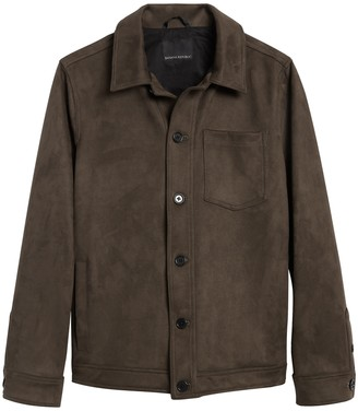 Banana Republic Vegan Suede Shirt Jacket