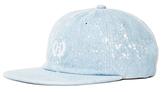 HUF Bleached Denim Crest 6 Panel Hat