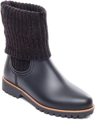 Bernardo Zurich Knit Shaft Waterproof Rain Boot