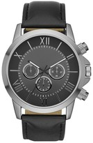 Mossimo Men's Black® Roman Numeral Dial Strap Watch - Black