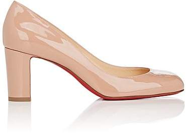 Christian Louboutin Women's Cadrilla Patent Leather Pumps - Nude