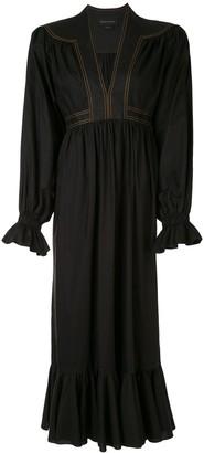 Karen Walker Graphite midi dress