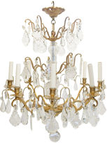 One Kings Lane Vintage French Crystal & Bronze Dore Chandelier