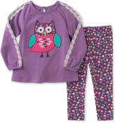Kids Headquarters Purple Owl Tunic & Floral Leggings - Infant, Toddler & Girls