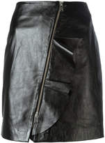IRO straight leather skirt