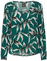 Ichi Printed Long-Sleeve Top