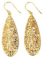 Argentovivo Cutout Sterling Silver Drop Earrings