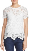 Three Dots Abstract Lace Top