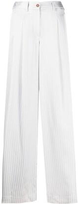 Jejia Pinstripe Wide Leg Trousers