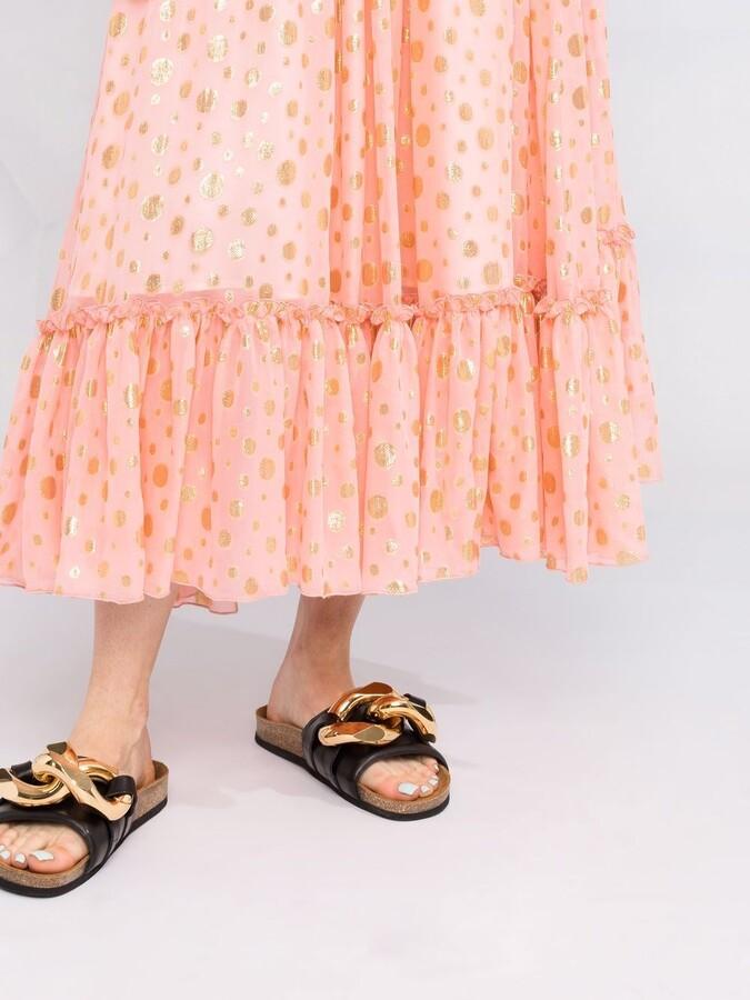 Thumbnail for your product : La DoubleJ Birthday metallic-polka dot dress