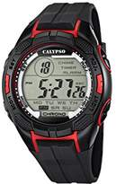Calypso Men's Digital Watch with LCD Dial Digital Display and Black Plastic Strap K5627/3