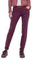 Akris Magda Slim-Leg Jeans W/Rolled Cuffs, Dahlia