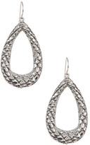 Simon Sebbag Sterling Silver Croco Embossed Teardrop Earrings