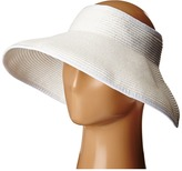 Scala Packable Two-Tone Paper Braid Visor Casual Visor