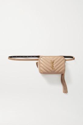 Saint Laurent Lou Quilted Leather Belt Bag - Beige
