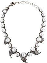 Oscar de la Renta Fanned Faux Pearl & Crystal Necklace