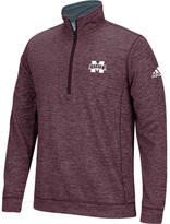 ADIDAS TEAM Men's adidas Mississippi State Bulldogs College Climawarm Team Issue Quarter-Zip Pullover