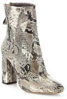 Alexandre Birman Zanny Python Block-Heel Booties