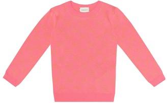 Gucci Kids GG cotton lame sweater
