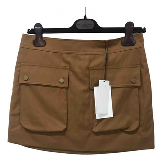 Helmut Lang Camel Cotton Skirts