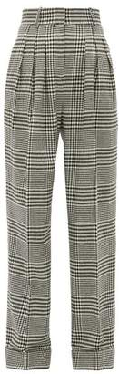 Emilia Wickstead Francis Prince Of Wales Wool-blend Trousers - Womens - Black White