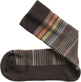 Johnston & Murphy Wool-Blend Mini-Stripe Socks