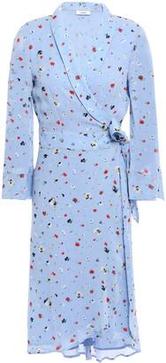 Ganni Dainty Floral-print Georgette Wrap Dress