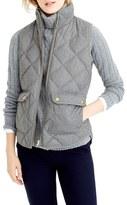 J.Crew Petite Women's Excursion Quilted Flannel Vest