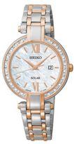 Seiko Ladies Tressia Two Tone Watch with Diamonds