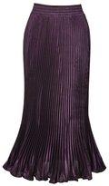 OCHENTA Women's Fishtail Accordion Pleated Maxi Skirt Outfit