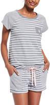 U.S. Polo Assn. Women's Sleep Bottoms CHARCOAL - Charcoal Heather Stripe Pajama Set - Plus