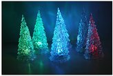 TIRSU Flashing Alternating Multicolor Icy Crystal LED Christmas Tree Decoration Night Light Lamp TRLED-ICE-6PC-HOME