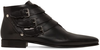Givenchy Leather Boots W/ Buckle Details