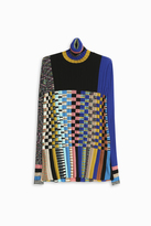 Missoni Multi Check Turtle Neck