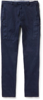 Brunello Cucinelli - Garment-dyed Stretch-cotton Twill Trousers