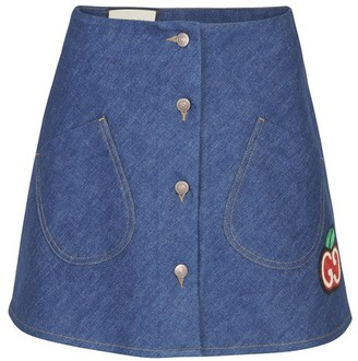 Gucci Denim skirt with patch