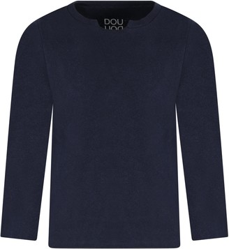 Douuod Blue Sweater For Boy With Logo