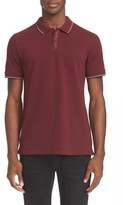 The Kooples Men's Short Sleeve Grosgrain Trim Polo