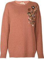 No.21 sequin embellished jumper - women - Wool - 40
