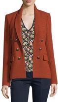 Veronica Beard Peninsula Pique Jacket, Brick