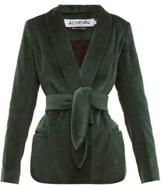 Etro Àcheval Pampa Acheval Pampa Cotton-velvet Blazer - Womens - Green