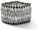 White House Black Market Jet/Silvertone Hematite Stretch Bracelet