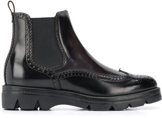 Santoni Embossed Ankle Boots