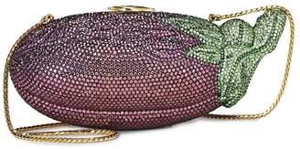Judith Leiber Purple Crystal Eggplant Minaudiere
