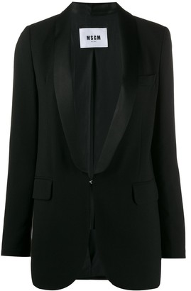 MSGM Single-Breasted Hooked Blazer