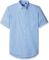 Izod Men's Big and Tall Advantage Performance Short Sleeve Check Shirt