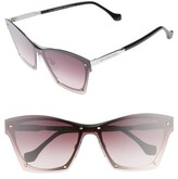Balenciaga Women's 55Mm Frameless Sunglasses - Palladium Blk/ Grdent Bordeaux